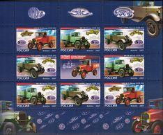 Russia, 2007, Mi. 1437-39, Y&T 7016-18,  Sc. 7049d, SG 7501-03, Cars, The First Native Trucks, MNH - 1992-.... Federación