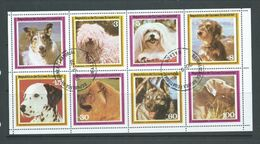 Equatorial Guinea 1978 Pet Dogs Set Of 8 In Full Sheet FU - Dogs