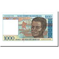 Billet, Madagascar, 1000 Francs = 200 Ariary, Undated (1994), KM:76a, NEUF - Madagascar