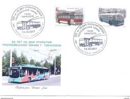2017. Transnistria, 50y Of First Trolleybus Line In Tiraspol, FDC, Mint/** - Moldova