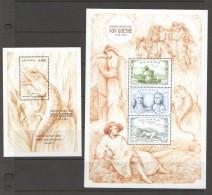 1999  Goethe «faust» Set Of 2 Souvenir Sheets MNH  ** - Guyana (1966-...)