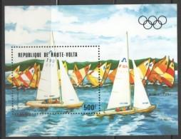 1983  Bloc Feuillet Année Pré-olympique Classe Soling  ** MNH - Haute-Volta (1958-1984)