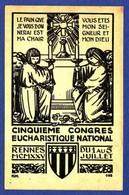 RENNES 5 EME CONGRES EUCHARISTIQUE NATIONAL RENNES 1925 TTB état) N56) - Rennes