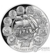 FIRST FLEET 230th Anniversary Silver Coin 2 Ounces $ 5 Niue 2018. - Niue