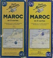 Carte Routière Michelin Maroc - Lot De 2 Cartes N° 170 Et 171 Au 1/1.000.000e - Cartes Routières