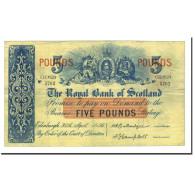 Billet, Scotland, 5 Pounds, 1956, 1956-04-30, KM:323c, TTB - 5 Pounds