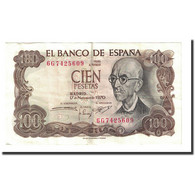Billet, Espagne, 100 Pesetas, 1970-11-17, KM:152a, TTB - [ 3] 1936-1975 : Regency Of Franco