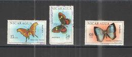 Nicaragua PA+PO 1967 Farfalle Scott. C608+614+615+  Used See Scans On Scott.Album+ - Nicaragua
