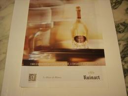PUBLICITE AFFICHE LE BLANC DE BLANC RUINART - Alcohols