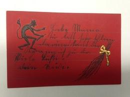 Krampus Prägekarte 2245 - Saint-Nicholas Day