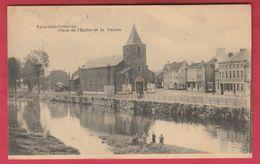 Vaux-sous-Chèvremont - Place De L'Eglise Et La Vesdre - 1926 ( Voir Verso ) - Chaudfontaine