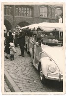 REAL PHOTO, Old Car. VW , Vehicle With Trailer, Vintage Sightseeing Tour Car ,  Auto Automobilia   Photo ORG - Automobili