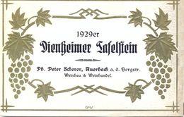 1 Etiquette Ancienne De VIN ALLEMAND - DIENGEIMER TAFELSTEIN 1929 - WEINBAU - Riesling
