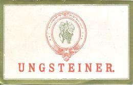 1 Etiquette Ancienne De VIN ALLEMAND - UNGSTEINER - Riesling
