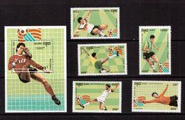 Cambodia-1993,(Mi.1376-1380,Bl.199), Football, Soccer, Fussball,calcio,MNH - World Cup