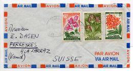 - Lettre ABIDJAN Pour FERREYRES (Suisse / Vaud) - Bel Affranchissement Philatélique - - Ivory Coast (1960-...)
