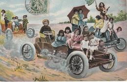 18 / 2 / 313    BÉBÉS  MULTIPLES  EN  VOITURE - Dibujos De Niños