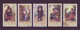 Malta 2001 - Arte, Quadri Di Edward Caruana Dingli, 5v Usati Serie Completa - Malta
