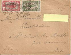 1928 - ENVELOPPE TIMBREE PAR AVION POUR LA FRANCE Avec SURCHARGE AFRIQUE EQUATORIALE FRANCAISE - A.E.F. (1936-1958)