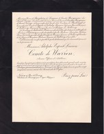 NANCY Adolphe Comte De WARREN Ancien Officier D'artillerie 1929 En 2 Volets Complets Famille Château De BIOURGE Orgéo - Décès