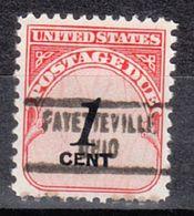 USA Precancel Vorausentwertung Preo, Locals Ohio, Fayetteville 734 - Vereinigte Staaten
