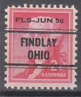 USA Precancel Vorausentwertung Preo, Locals Ohio, Findley L-1 ITS - Vereinigte Staaten