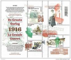 Belg. 2016 - COB N° 4594 à 4598 ** La Grande Guerre - La Résistance  (bloc 236) - Belgique