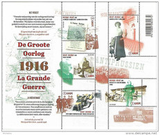 Belg. 2016 - COB N° 4594 à 4598 ** La Grande Guerre - La Résistance  (bloc 236) - België
