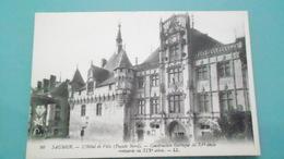 49SAUMURN° DE CASIER 1138 RDETAIL RECTO VERSO DE LA CARTE AVEC LES 2   PHOTOSNON CIRCULE - Saumur