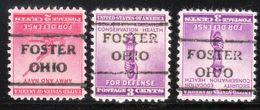 USA Precancel Vorausentwertung Preo, Locals Ohio, Foster 716,5, 3 Diff. - Vereinigte Staaten