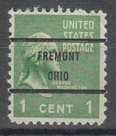 USA Precancel Vorausentwertung Preo, Bureau Ohio, Fremont 804-71 - Vereinigte Staaten