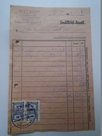 OK22.3   Hungary Invoice Shippingdoc. Automotive Spare Parts -TRIO -Budapest 1948 -tax Stamps -Szabadszállás - Facturas & Documentos Mercantiles