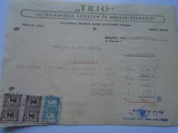 OK22.5  Hungary Invoice   Automotive Spare Parts -TRIO -Budapest 1948 -tax Stamps -Szabadszállás - Unclassified