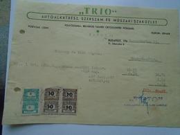 OK22.6  Hungary Invoice   Automotive Spare Parts -TRIO -Budapest 1948 -tax Stamps -Szabadszállás - Facturas & Documentos Mercantiles