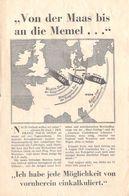 "WWII WW2 Propaganda Leaflet Tract Flugblatt EH.508 ""Von Der Maas Bis An Die Memel…"" (RAF V) FREE SHIPPING WORLDWIDE - Old Paper"