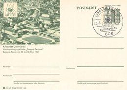 WEST GERMANY - POSTKARTE KREISSTADT GROSS-GERAU EUROPA-TAGE 22.5.1965 - European Ideas