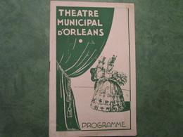 Théâtre Municipal D'ORLEANS - Enlevez-moi Comédie Musicale En 3 Actes (12 Pages) - Programs