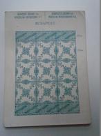 OK22.12  Hungary   Zsolnai Porcelán -porcelain Factory Tile Pattern - Ca 1910 - Advertising