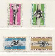 POLYNESIE  ( OCPOL - 8 )   1966   N° YVERT ET TELLIER   N° 42/45    N** - Unused Stamps