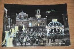 870  GIOIA DEL COLLE - PIAZZA PLEBISCIO IN FESTIVITA (NOTTURNO)  1964 - Bari