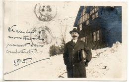 Etats Unis. Spokane Carte Phooto D'un Homme Devant Maison . 1915 - Spokane