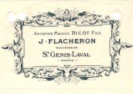 FLACHERON  Ancienne Maison BICOT   ST GENIS LAVAL   1910 - Lettres De Change