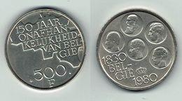 Belgie 1980 - 150 Jaar Onafhankelijkheid België - 500 Fr. - 1951-1993: Baudouin I