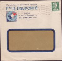 ENVELOPPE TIMBRE 1953 ROANNE ENTREPOT  (LOIRE) - Postmark Collection (Covers)