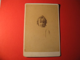 FOTOGRAFIA  FORMATO 16 X 11 BAMBINA   FINE 1800 - Persone Anonimi