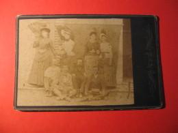 FOTOGRAFIA  FORMATO 16 X 11 FOTO DI FAMIGLIA   FINE 1800 - Persone Anonimi