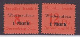 Lokalausgaben Spremberg MiNr. 15-16A ** - Zone Soviétique