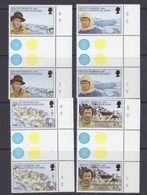South Georgia 1996 Shackleton's Trek 4v Gutter ** Mnh (37633) - Zuid-Georgia