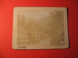 FOTOGRAFIA  FORMATO   10X 12,5  DONNE IN MONTAGNA     FINE 1800 - Persone Anonimi