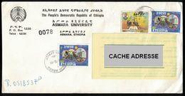 Ethiopie 1989 Enveloppe Asmara University Avec Timbres D'époque - Äthiopien